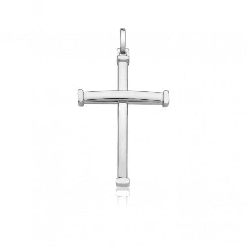 Pingente de ouro 18k crucifixo ouro branco