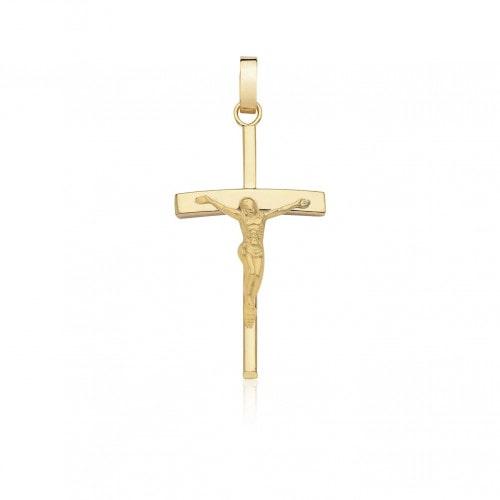 Pingente de ouro 18k crucifixo com Cristo