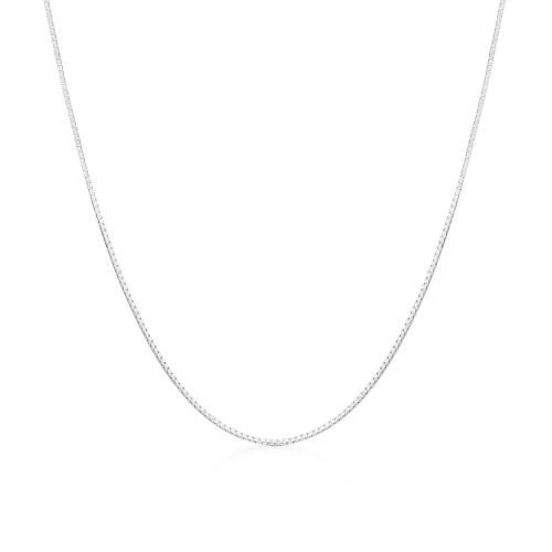 Corrente de ouro branco 18k veneziana 50cm