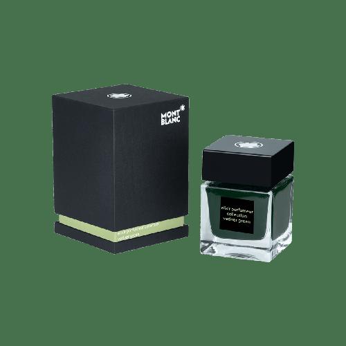 Frasco de tinta Montblanc 50 ml, Elixir Parfumeur, fragrância Vetiver, verde