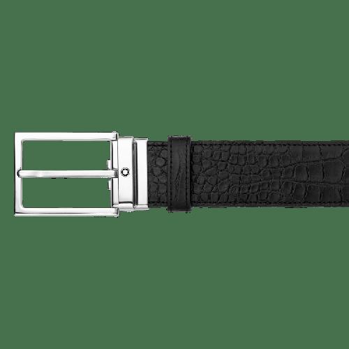 Cinto Montblanc couro preto