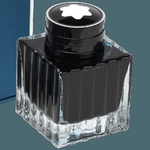 Frasco de tinta Montblanc azul gasolina cor petróleo 50ml
