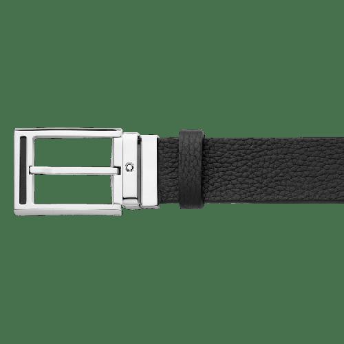 Cinto Montblanc Black Casual Belt