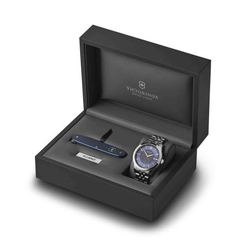 Relógio Victorinox Masculino Alliance com canivete do exército suíço Pioneer Azul
