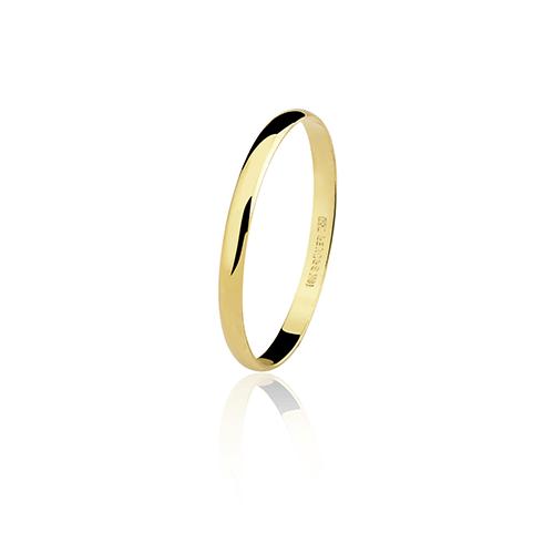 Aliança de ouro 18k lisa (2.5mm)