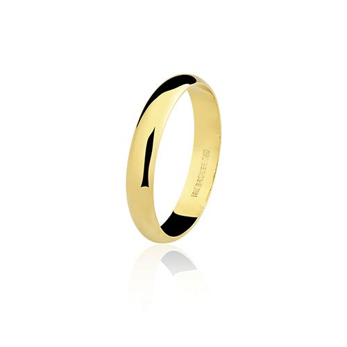Aliança de ouro 18k lisa (3.2mm)