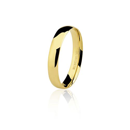 Aliança de ouro 18k lisa (3.5mm)