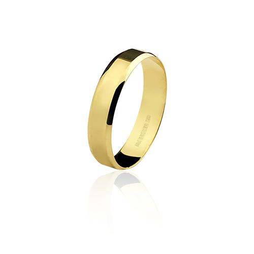 Aliança de ouro 18k lisa (4.5mm)