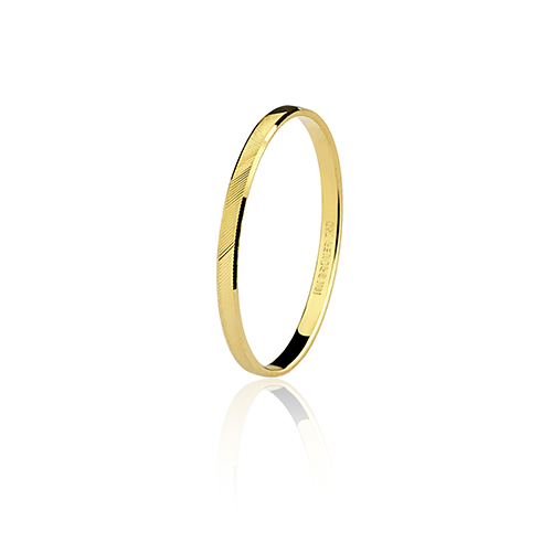 Aliança de ouro 18k diamantada (1.9mm)
