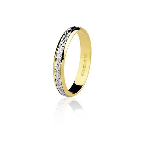 Aliança de ouro 18k bodas de prata (3.5mm)
