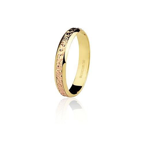 Aliança de ouro 18k bodas de ouro (3.5mm)
