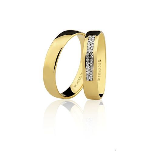 Aliança de ouro 18k (4mm)