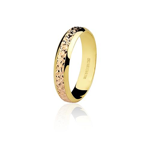 Aliança de ouro 18k bodas de ouro (4.4mm)