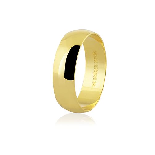 Aliança de ouro 18k (6mm)
