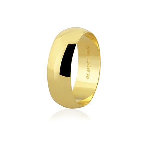 Aliança de ouro 18k (7mm)