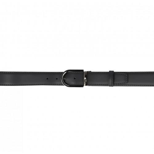Cinto Montblanc de couro preto - 35mm
