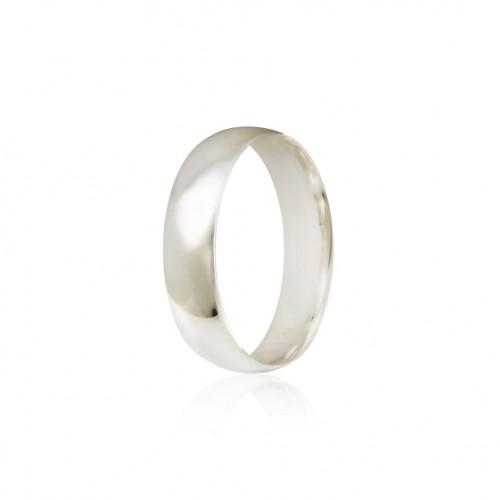 Aliança prata 925 polida 5mm