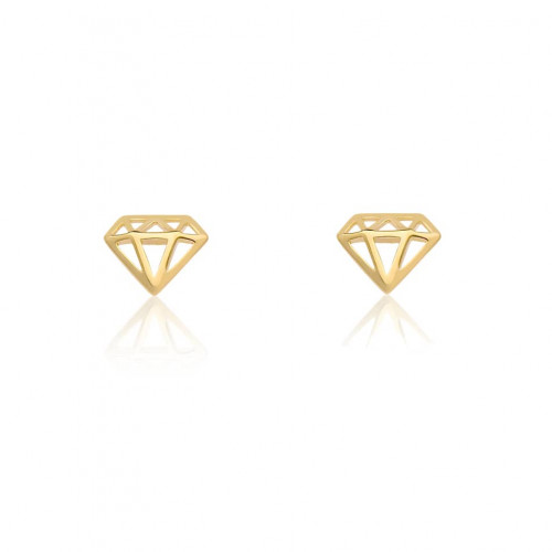 Brinco de ouro 18k diamante