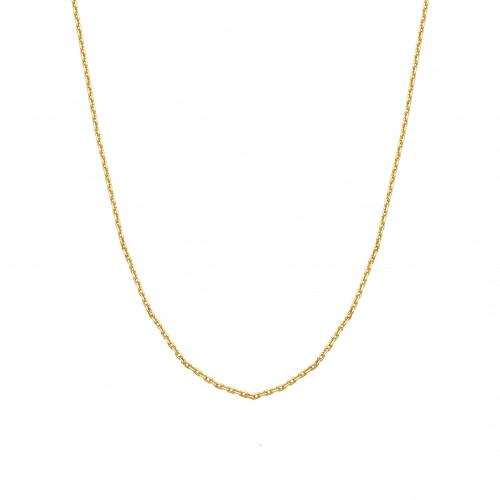 Corrente de ouro 18k elo cadeado 45cm