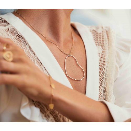 Gargantilha Ouro 18k Coração