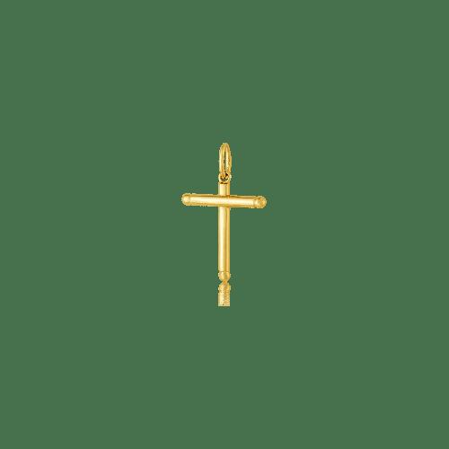 Pingente crucifixo de ouro 18k pequeno