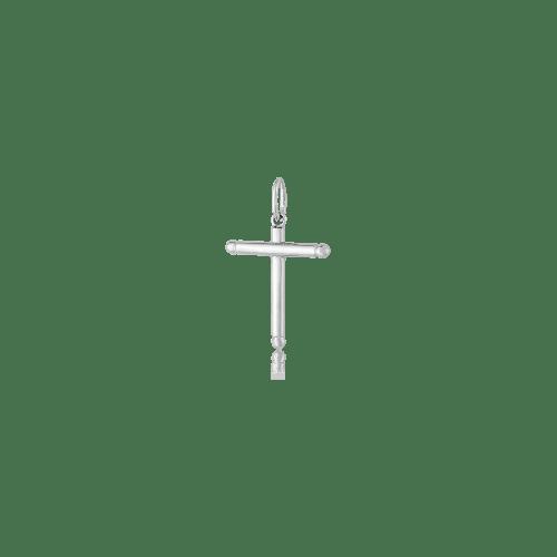 Pingente crucifixo de ouro branco 18k pequeno