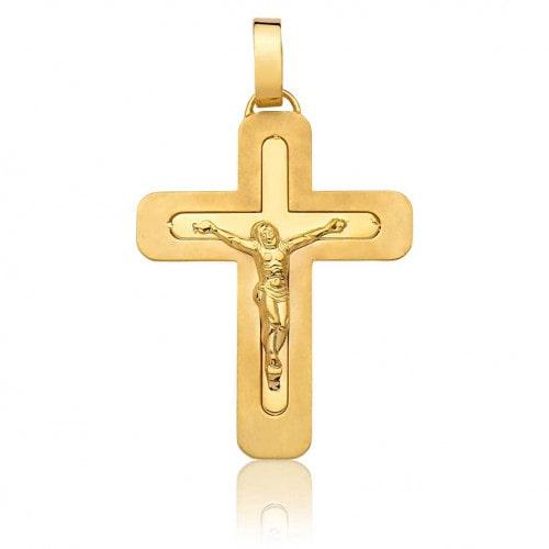 Pingente de ouro 18k crucifixo Cristo