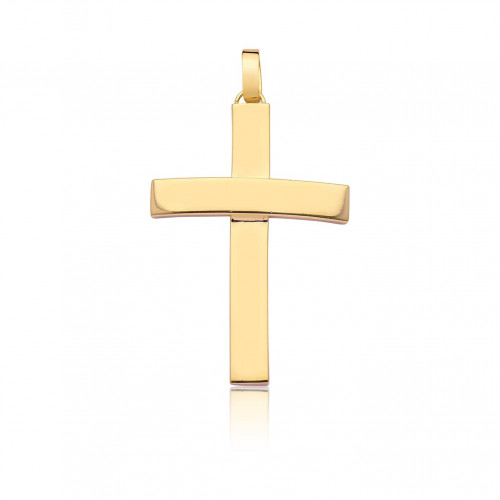 Pingente crucifixo ouro 18k amarelo