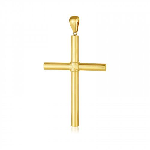 Pingente crucifixo de ouro 18k - Grande