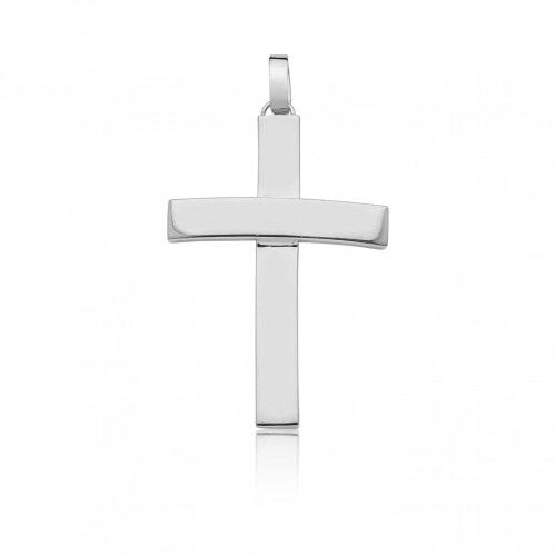 Pingente crucifixo ouro 18k branco