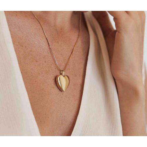 Relicário coração ouro 18k