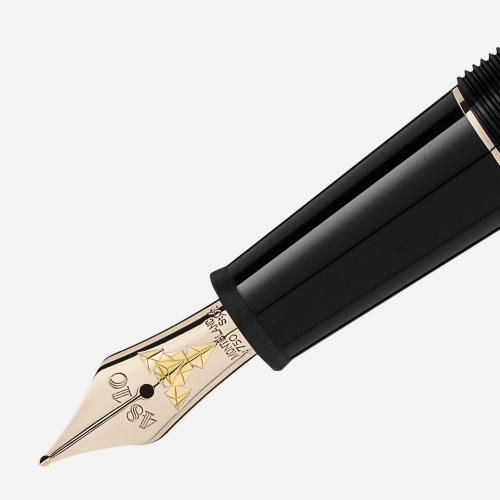 Caneta tinteiro Classique Doué Geometry revestida em ouro champanhe