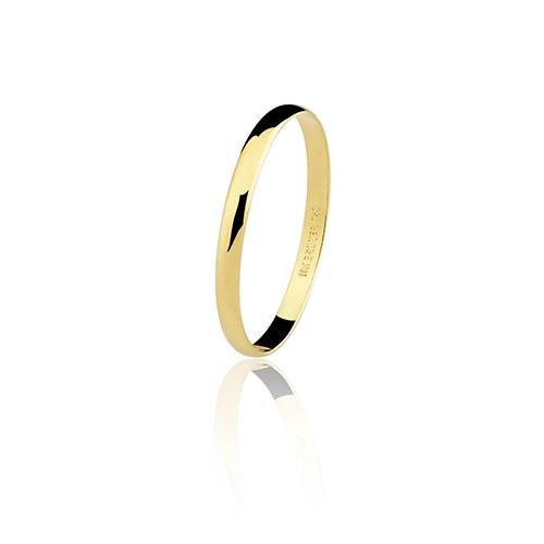 Aliança de ouro 18k lisa (2mm)