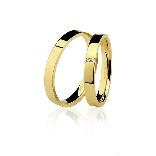 Aliança de ouro 18k lisa (3mm)