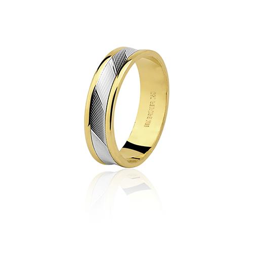 Aliança de ouro 18k diamantada