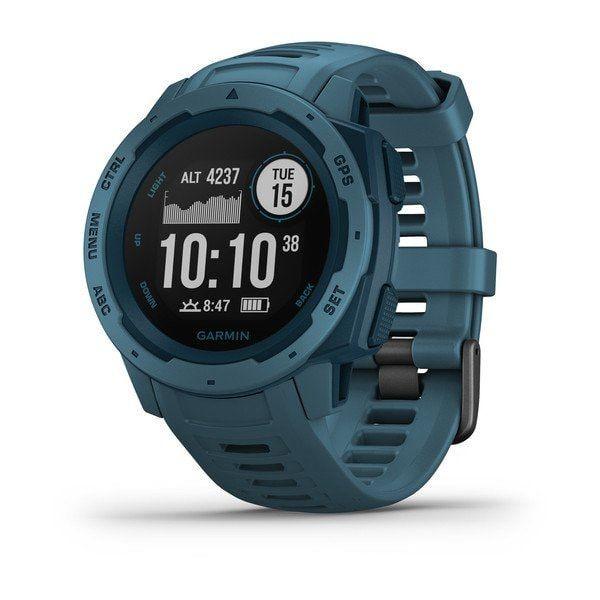 Relógio de Pulso Robusto com GPS Garmin Instinct Azul Marinho