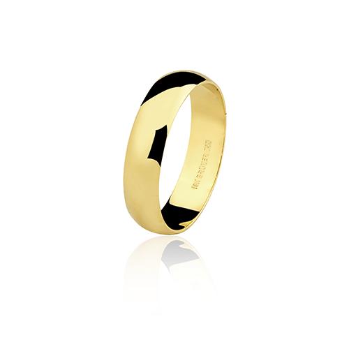 Aliança de ouro 18k lisa (5mm)