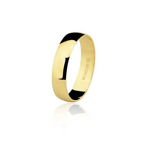 Aliança de ouro 18k lisa (4.3mm)