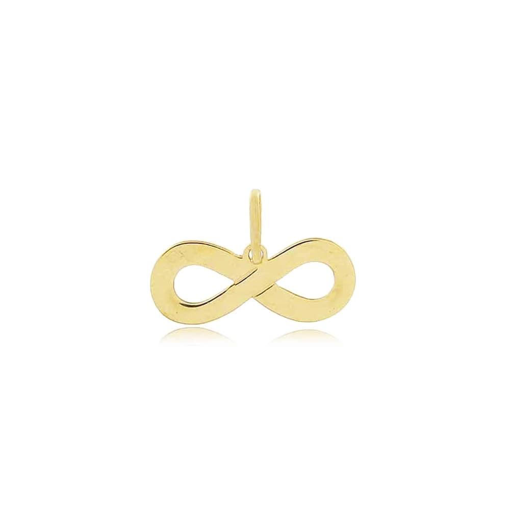 Pingente de ouro 18k símbolo infinito