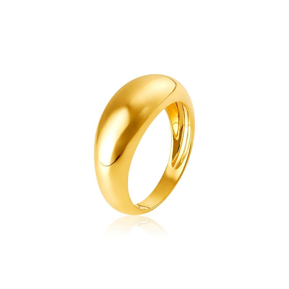 Anel de ouro 18k arredondado