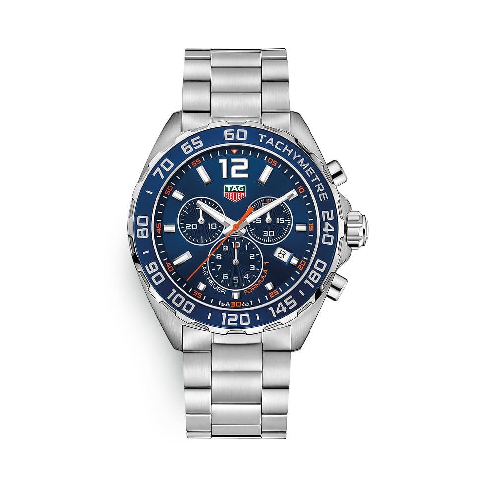 Relógio Tag Heuer Formula 1 a quartzo mostrador azul
