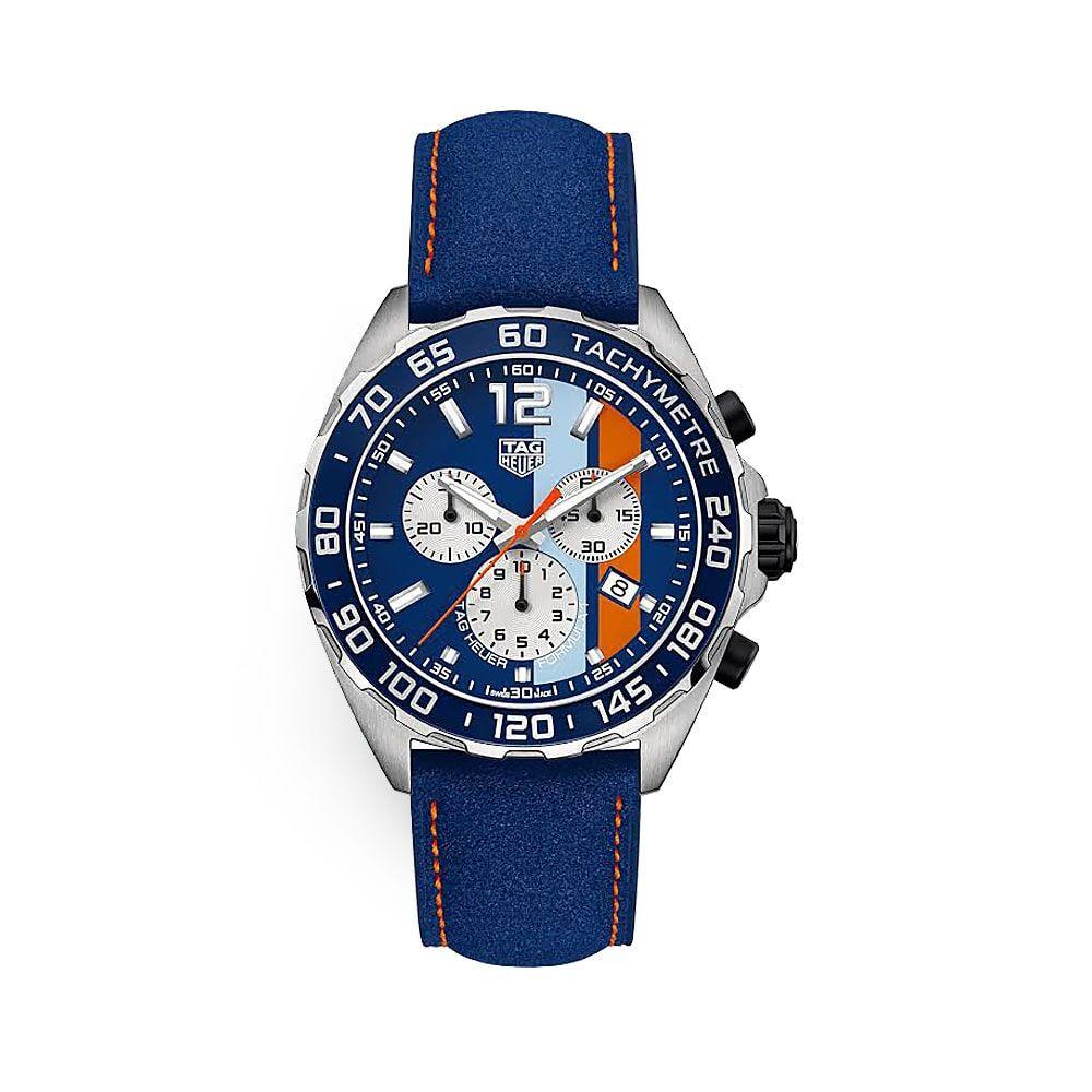 Relógio Tag Heuer Formula 1 a Quartzo pulseira couro azul