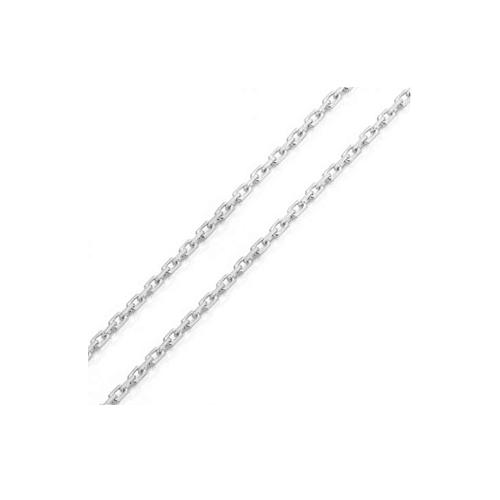 Corrente de ouro 18k branco elo cadeado 50cm