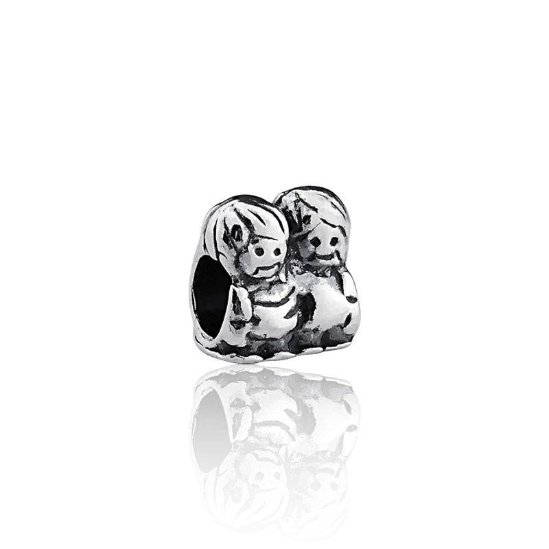 Berloque prata 925 casal passante