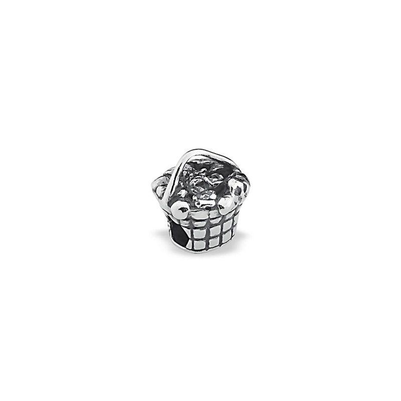 Berloque prata 925 cesta flor