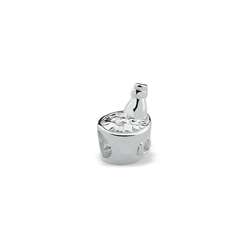 Berloque prata 925 balde champagne