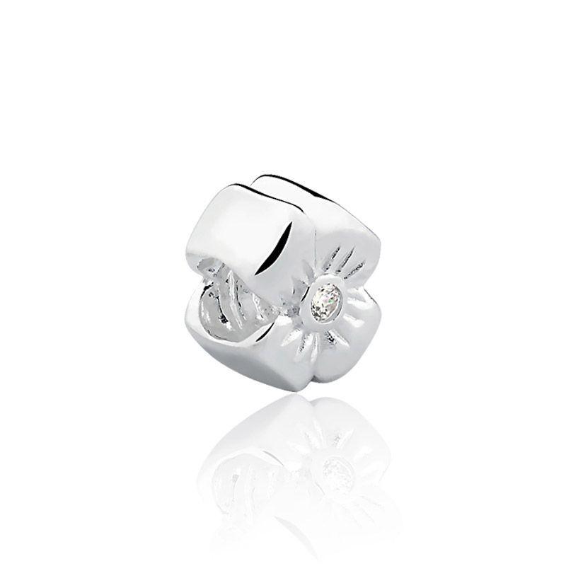 Berloque prata 925 flor