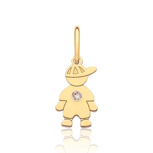 Pingente de ouro 18k menino pequeno