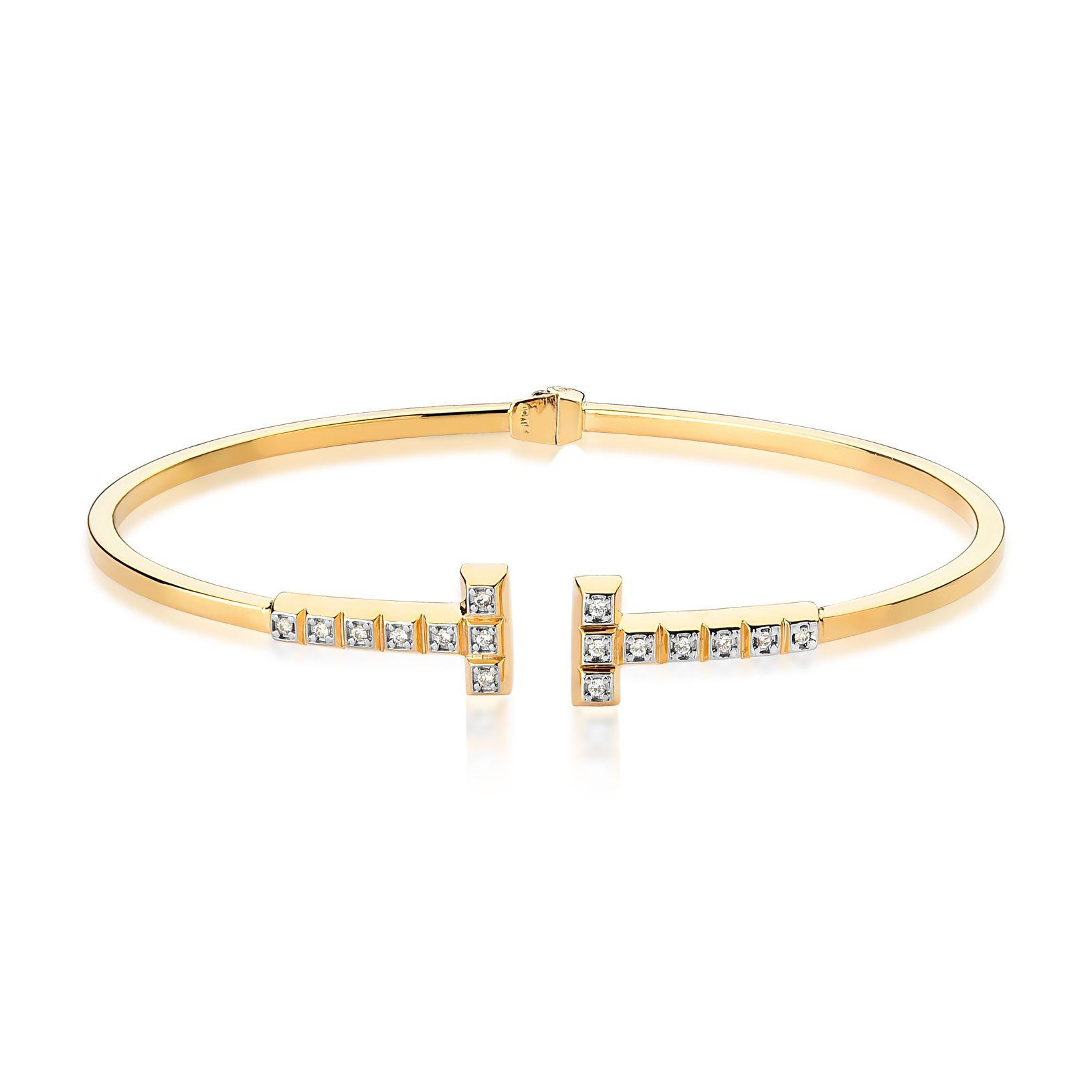 Pulseira bracelete de ouro 18k diamantes